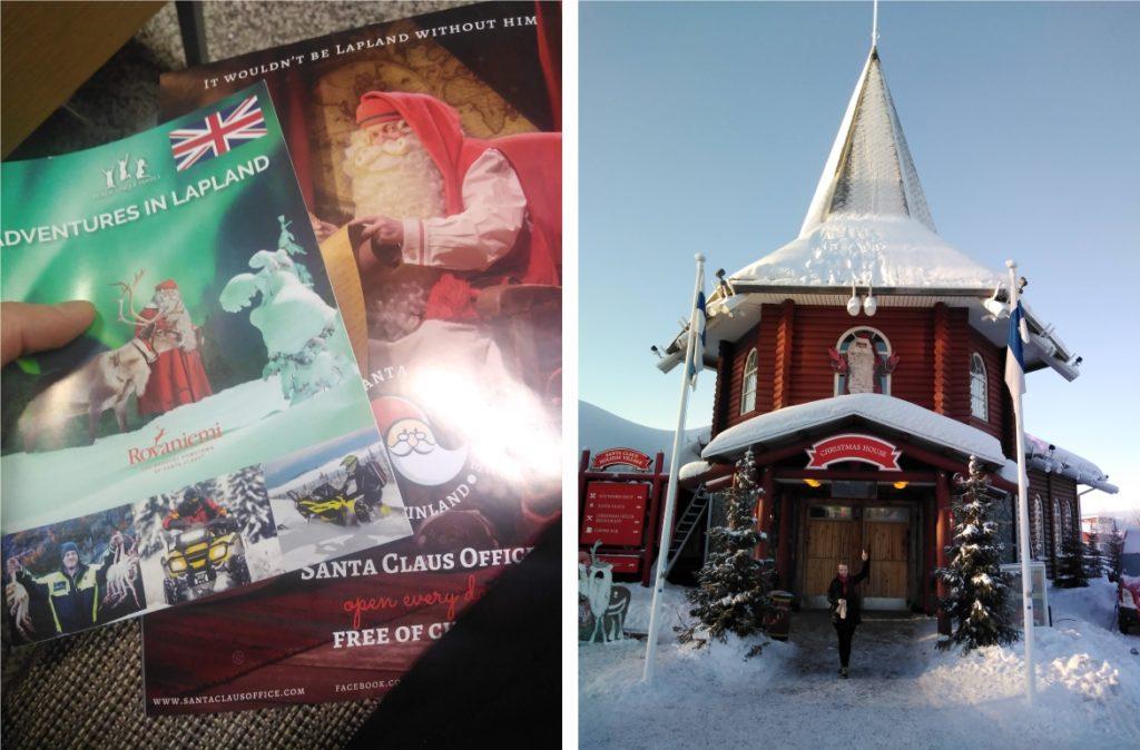 satul lui Mos Craciun Laponia - brosura cu obiective turistice si casa lui Mos Craciun