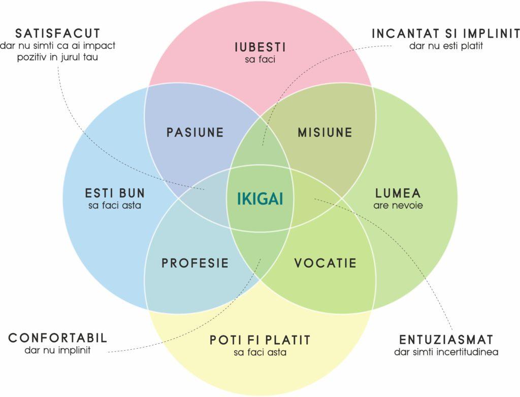 Metoda Ikigai schema limba romana