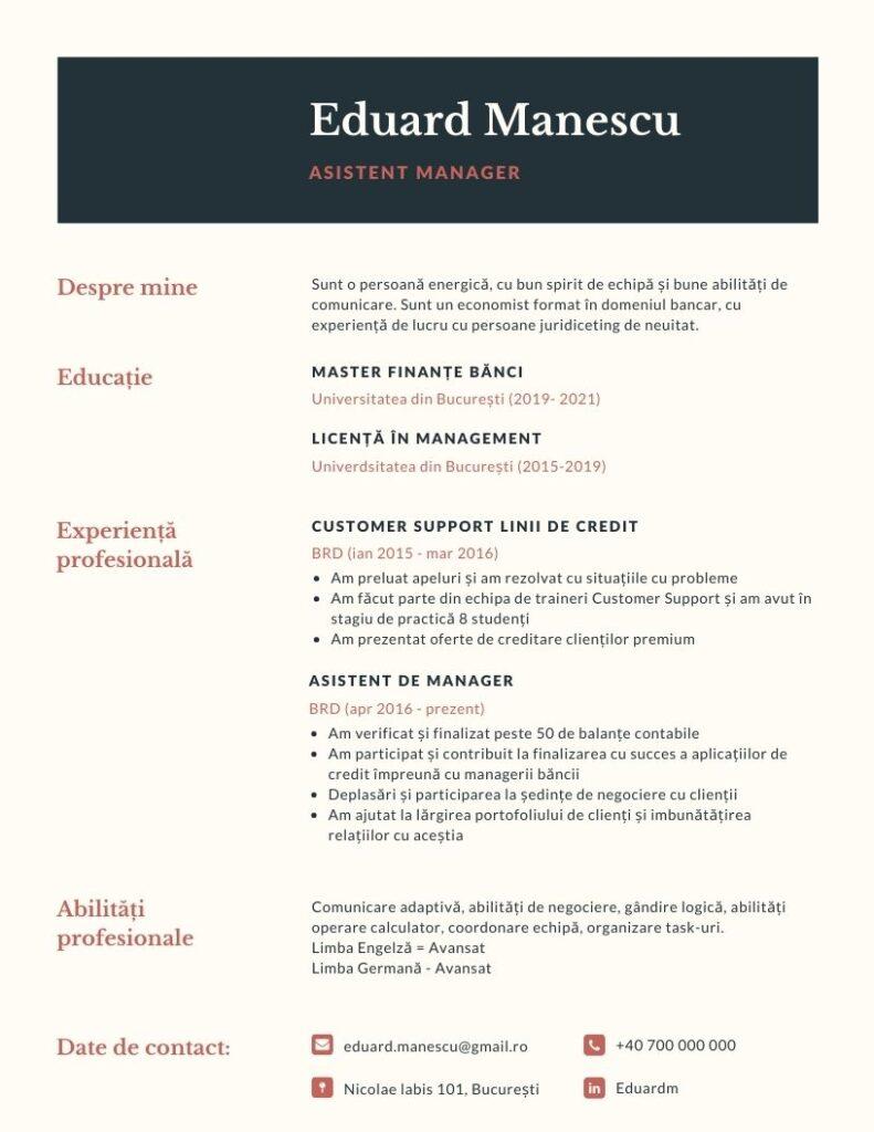 model-cv-pentru-angajare-simplu